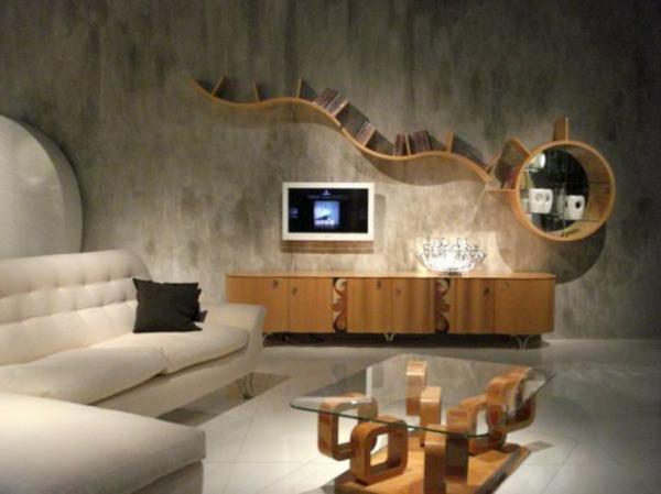 meuble-suspendu-de-salon-étagère-originale