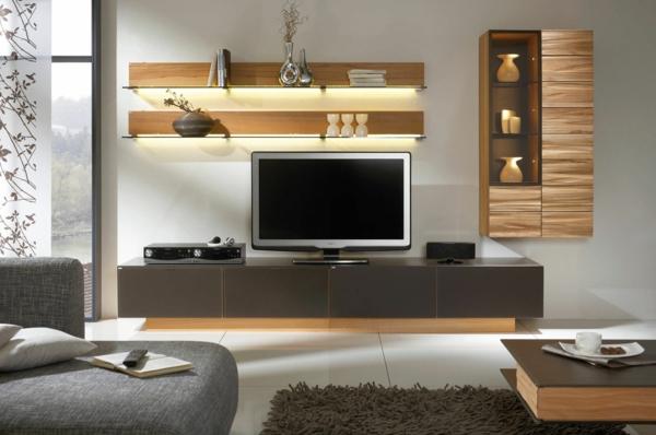 meuble-suspendu-de-salon-étagères-et-vitrines-muraux