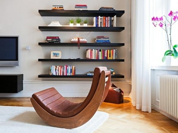 Le meuble suspendu de salon d core et modernise le salon for Etagere murale pour salon