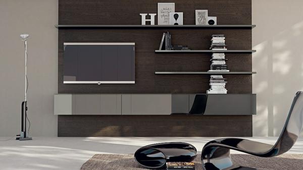 meuble-suspendu-de-salon-étagères-suspendues-et-un-tv-suspendu