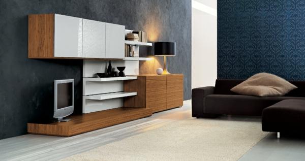Le meuble suspendu de salon d core et modernise le salon for Meuble qui s accroche au mur