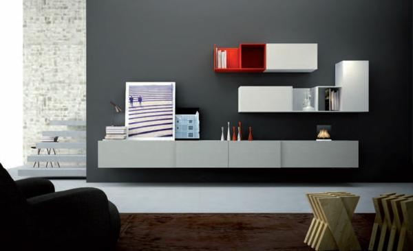 meuble-suspendu-de-salon-en-rouge-et-blanc