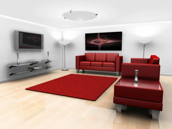 meuble-suspendu-de-salon-meuble-de-tv-suspendu-mobilier-rouge-de-salle-de-séjour