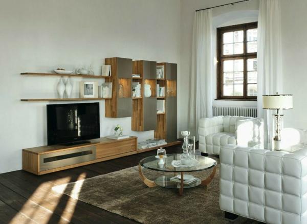 meuble-suspendu-de-salon-mobilier-élégangt-en-bois