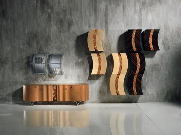 meuble-suspendu-de-salon-rangement-créatif-en-bois