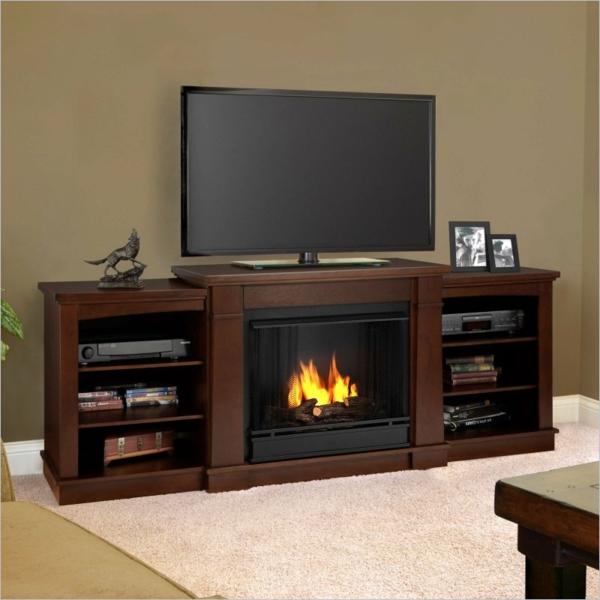 meuble-tv-vintage-avec-cheminée
