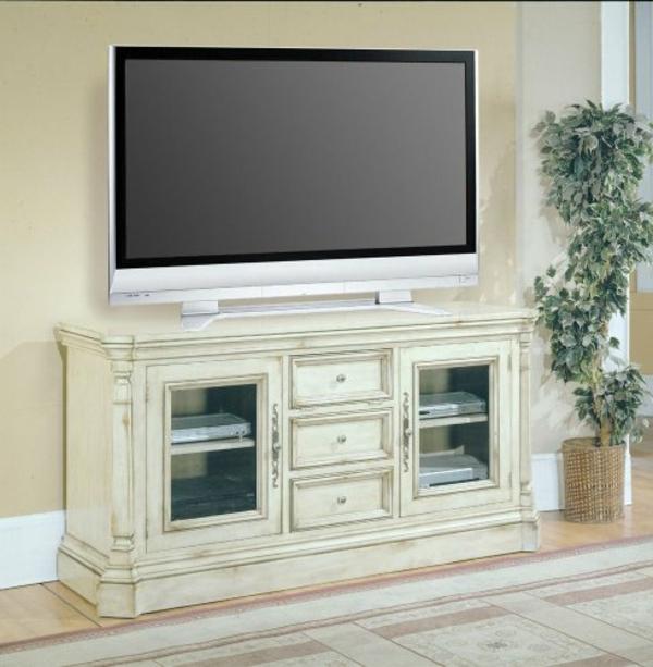 Meuble Tv Vintage Blanc : Meuble-tv-vintage-blanc