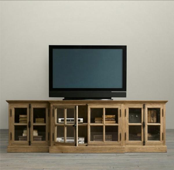 meuble-tv-vintage-bois-solide