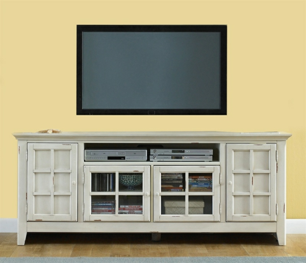 meuble-tv-vintage-buffet-blanc-antique