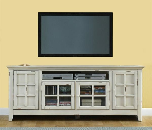 meuble-tv-vintage-buffet-blanc-antique