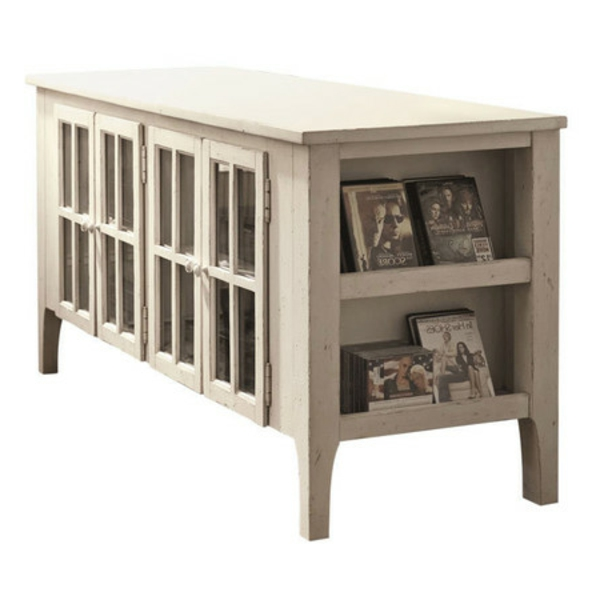 meuble-tv-vintage-buffet-blanc