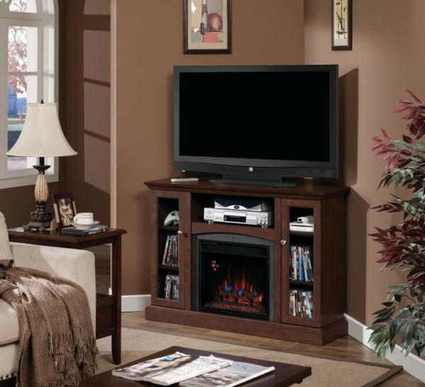 meuble tv bois marron solutions pour la d coration. Black Bedroom Furniture Sets. Home Design Ideas