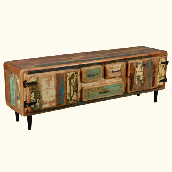 meuble-tv-vintage-commode