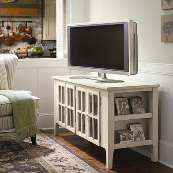Meuble chambre rustique for Meuble tv chambre