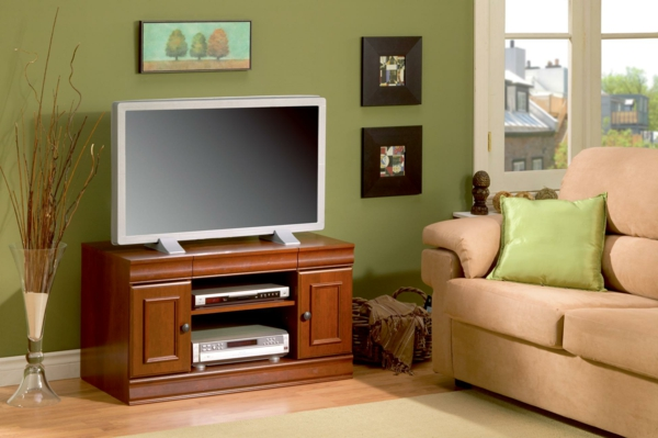 meuble-tv-vintage-et-divan-rose