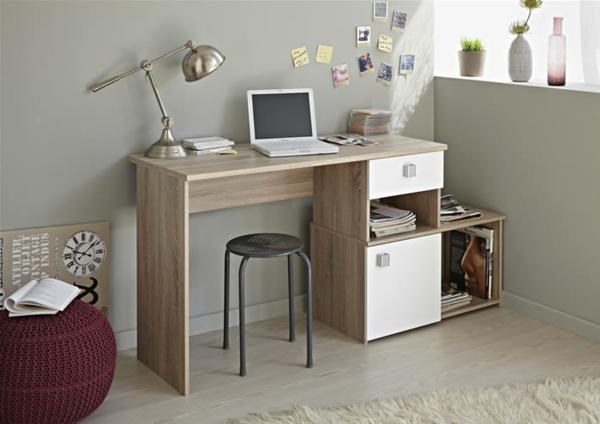 meubles-parisot-bureau-en-bois-clair-et-un-pouf-bordeaux