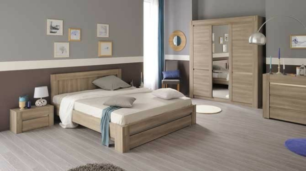 Designs de meubles parisot confort maximal et id es for Chambre a coucher en bois rouge