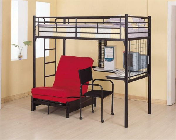 le lit mezzanine et bureau plus d 39 espace. Black Bedroom Furniture Sets. Home Design Ideas