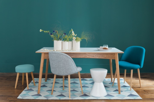 Salon Scandinave Bleu : Le fauteuil design scandinave
