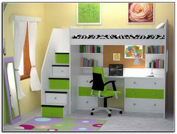 oriignal-design-pour-le-lit-mezzanine-et-bureau--en-vert