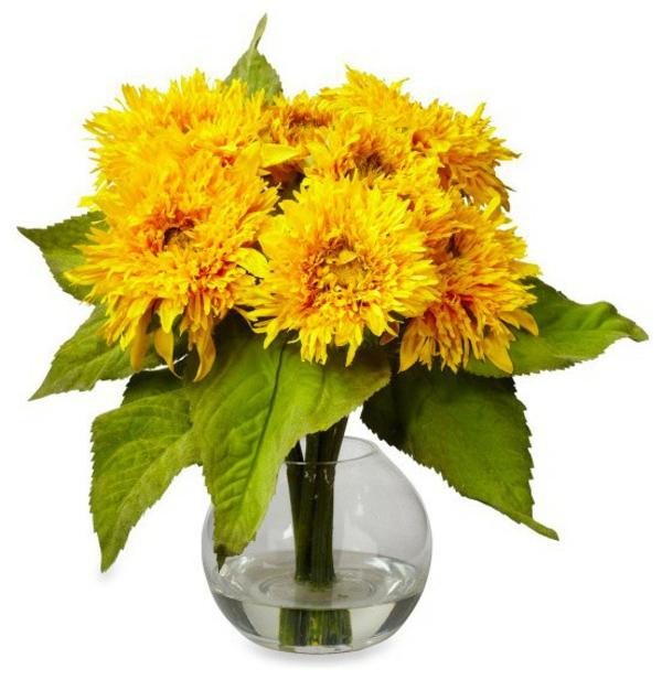 plantes-artificielles-fleurs-jaunes