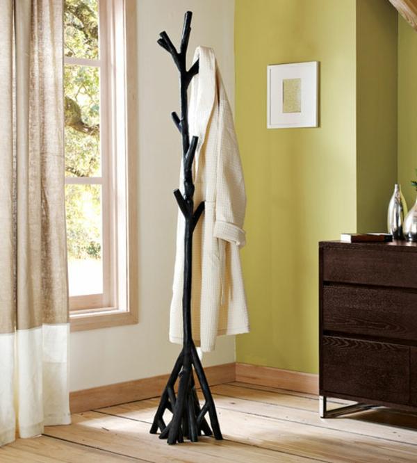 porte-manteau-arbre-bois-laqué-noir