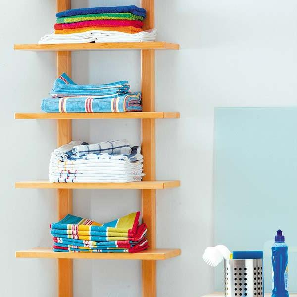 porte-serviette-de-salle-de-bain-étagères-flottantes-en-bois