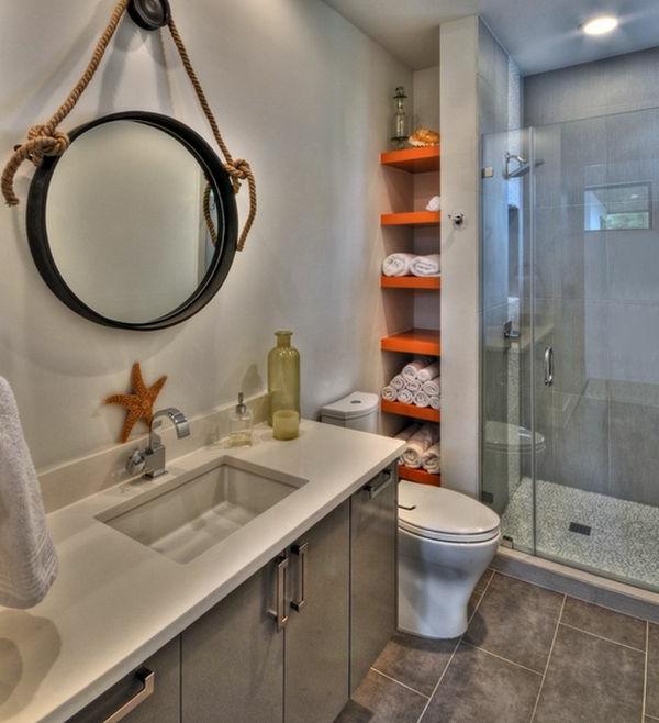 porte-serviette-de-salle-de-bain-étagères-oranges