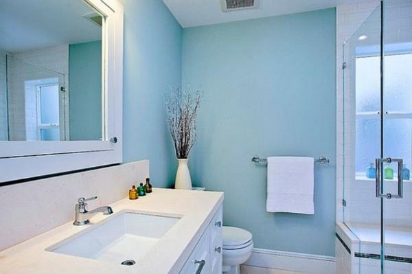 peinture murale bleue nuances le porte serviette de salle bain ...