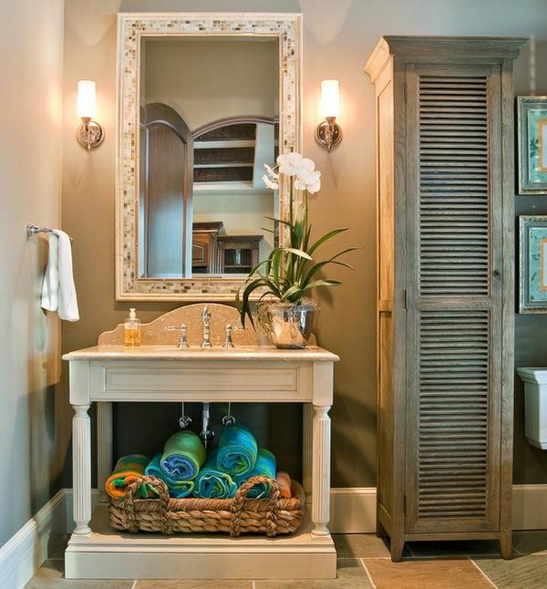 porte-serviette-de-salle-de-bain-serviettes-turquoises