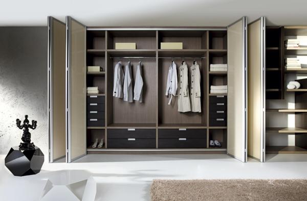 Les portes de placard pliantes pour un rangement joli et - Armoire moderne chambre ...