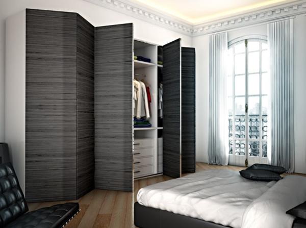 Les portes de placard pliantes pour un rangement joli et moderne for Placard mural chambre