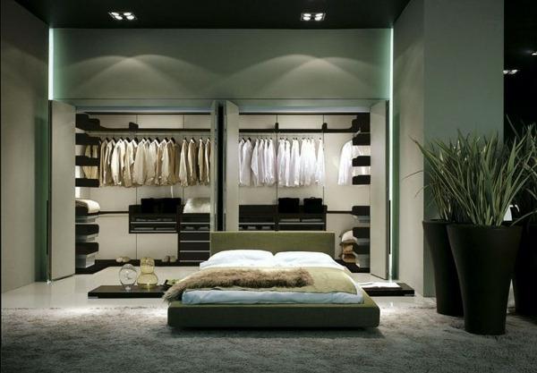 Les portes de placard pliantes pour un rangement joli et - Deco porte placard chambre ...