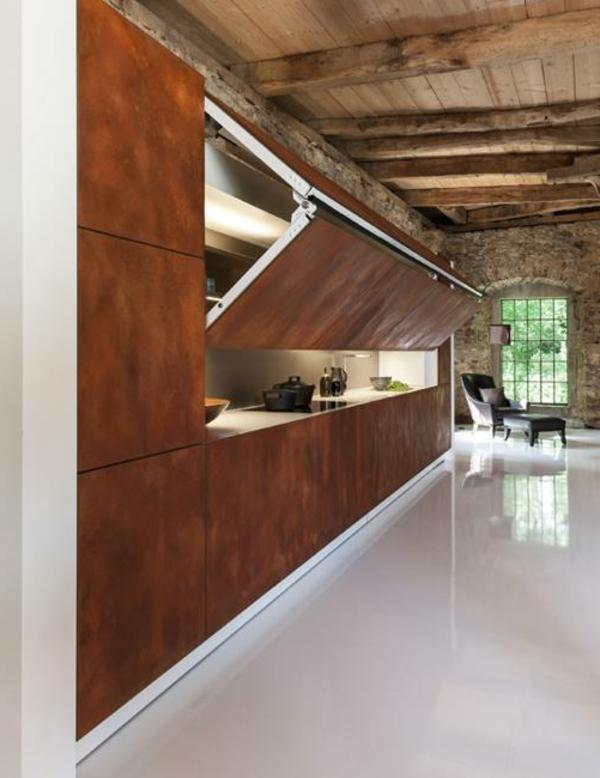 Les portes de placard pliantes pour un rangement joli et for Porte de salon en bois design