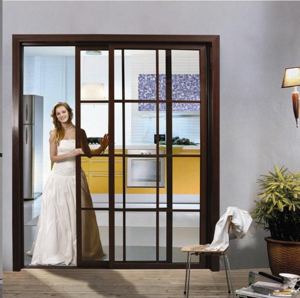 Les portes int rieures vitr es laissons les int rieurs for Encadrement de porte en aluminium