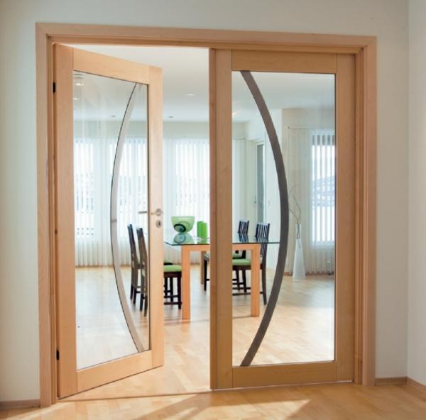 portes-intérieures-vitrées-encadrement-en-bois