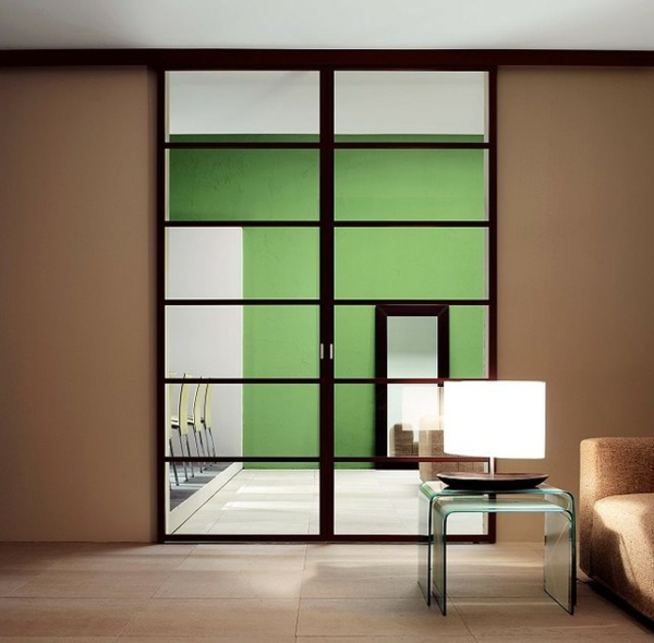 Les portes int rieures vitr es laissons les int rieurs for Porte interieur vitree aluminium
