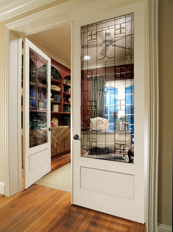 portes-intérieures-vitrées-portes-à-l'encadrement-blanc