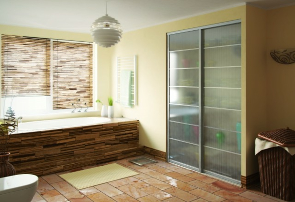 Les portes int rieures vitr es laissons les int rieurs respirer - Porte salle de bain vitree ...
