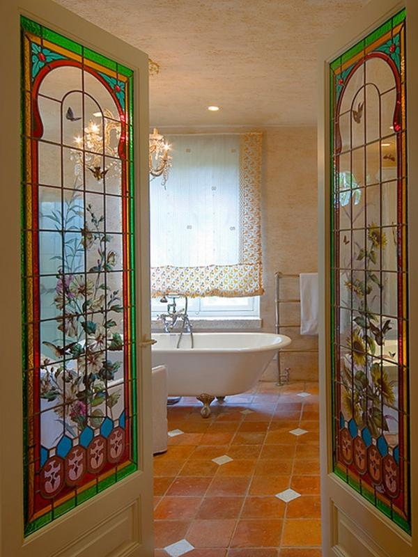 Les portes int rieures vitr es laissons les int rieurs respirer - Porte vitree salle de bain ...