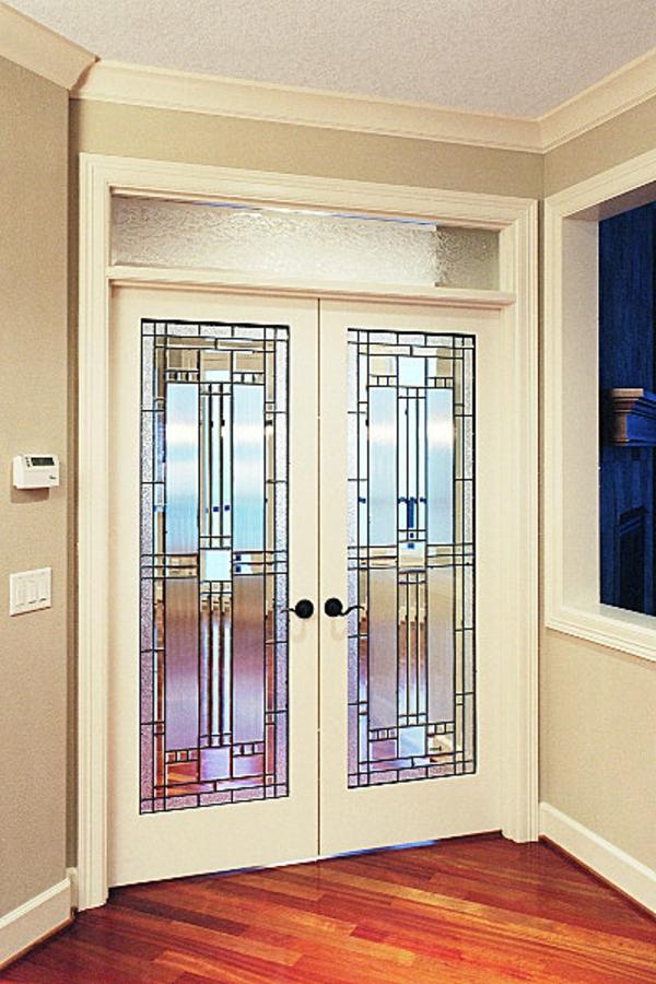 les portes intérieures vitrées - laissons les intérieurs respirer ... - Decoration Encadrement Porte Interieur