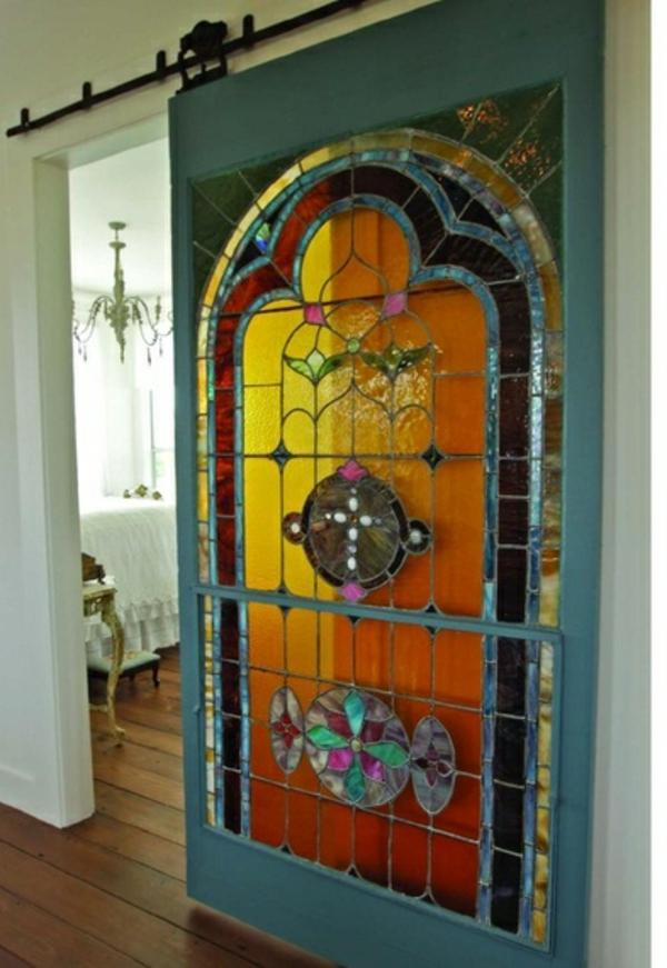portes-intérieures-vitrées-verre-vitrail