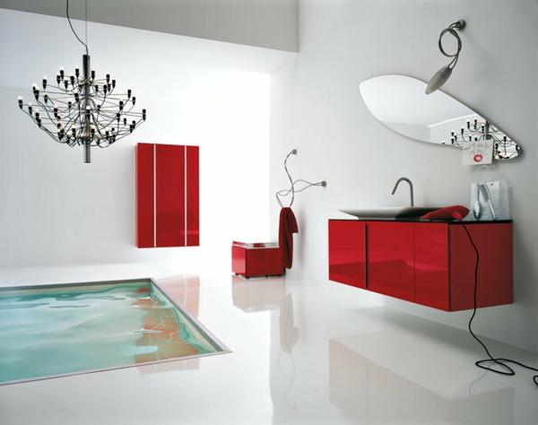 La salle de bain schmidt beaut et innovations - Salle de bain en rouge ...