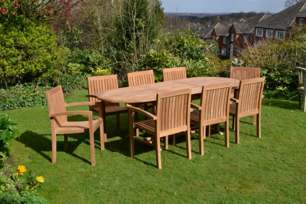 ★ Le salon de jardin en teck est l'aménagement joli et durable pour vos extérieurs
