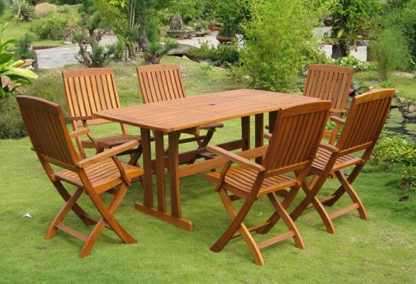 Salon De Jardin Imitation Resine Tressee : Salon de jardin en teck classique, des chaises pliantes cosy