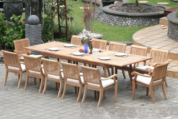 Grande table de jardin design des id es - Grande table ronde de jardin ...