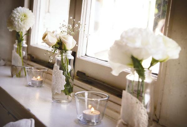simple-blanche-décoration-floral-de-mariage