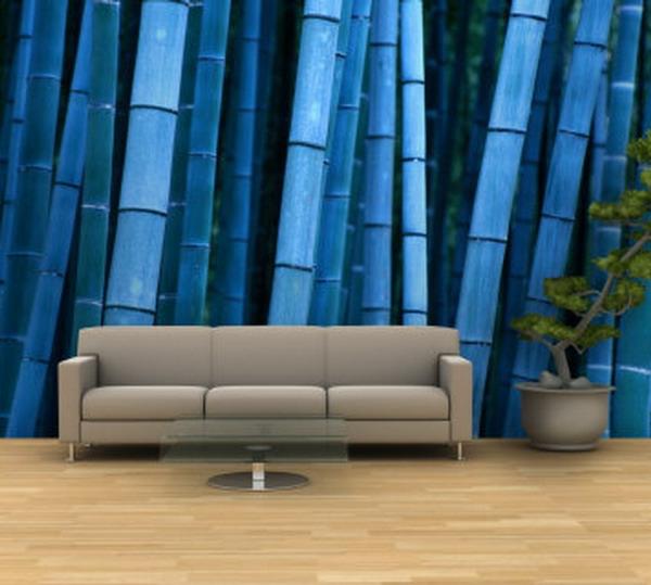 sticker-bambou-forêt-de-bambou-en-bleu