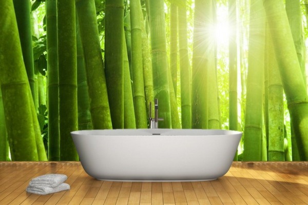 sticker-bambou-décoration-murale-de-salle-de-bains