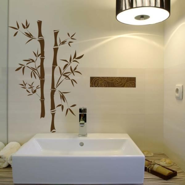 stickers salle de bain bambou chaios